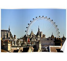 London's Eye Among The Blocks Poster