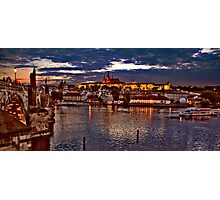 Prague Castle at Night. View 1 Photographic Print