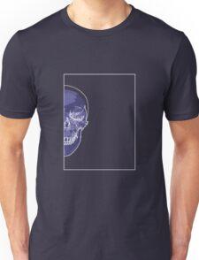 Skull Blue Mauve B Unisex T-Shirt