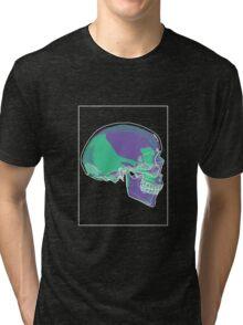 Skull Green Mauve C Tri-blend T-Shirt