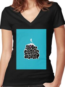 I LOVE GRAPHIC DESIGN Women's Fitted V-Neck T-Shirt