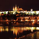 Prague Castle at Night. View 3 by Anatoly Lerner