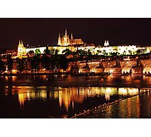 Prague Castle at Night. View 3 Photographic Print