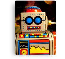 self portrait as a small tin robot Canvas Print