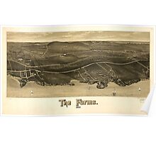 Panoramic Maps The Farms 1886 Poster