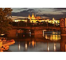 Prague Castle at Night. View 6 Photographic Print