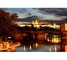 Prague Castle at Night. View 7 Photographic Print