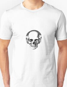 SKULL HEADPHONES Unisex T-Shirt