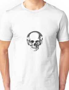 SKULL HEADPHONES Unisex T-Shirt