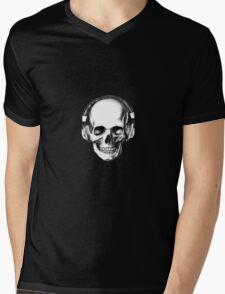 SKULL HEADPHONES Mens V-Neck T-Shirt