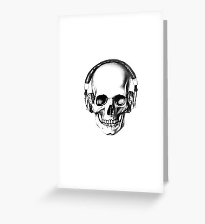 SKULL HEADPHONES Greeting Card