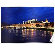 Salzburg at Night. View 2 Poster
