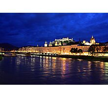 Salzburg at Night. View 2 Photographic Print