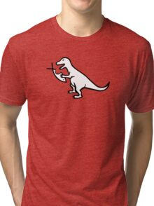 T-Rex VS Religion Tri-blend T-Shirt
