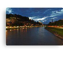 Salzburg at Night. View 3 Canvas Print