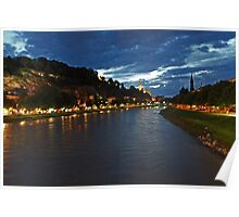 Salzburg at Night. View 3 Poster