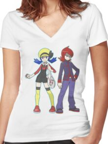 Pokemon Trainers Women's Fitted V-Neck T-Shirt