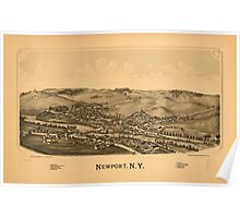 Panoramic Maps Newport NY Poster