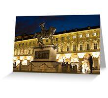 Piazza San Carlo - Turin, Italy Greeting Card