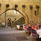 Outdoor dining in Sarlat, France by magicaltrails