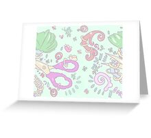 Scissors and Halos Greeting Card