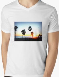Palms Venice Beach Mens V-Neck T-Shirt