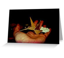 happy humming bird  Greeting Card