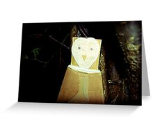 sky owl  Greeting Card