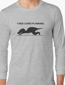 T-Rex Loves Planking Long Sleeve T-Shirt
