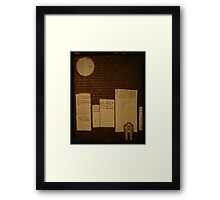 egg in the city Framed Print