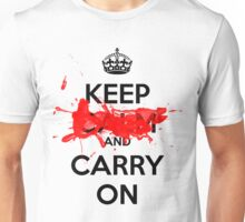 Keep [BLANK] and Carry On - White Side Unisex T-Shirt