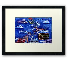 Time and the Way We Travel (inside cover) Framed Print
