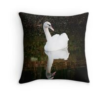 Swan  Refections 1 Throw Pillow