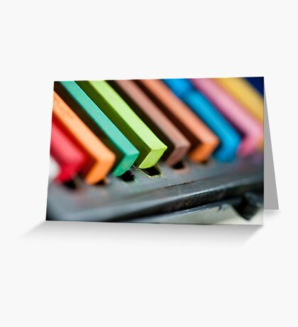 Coloured Conte Greeting Card