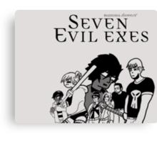 Seven Evil Exes Canvas Print