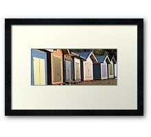 Bleached Huts Framed Print