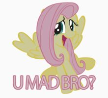 Fluttershy - U MAD BRO? Kids Clothes