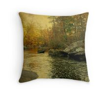 A Golden Autumn at the Unami Throw Pillow