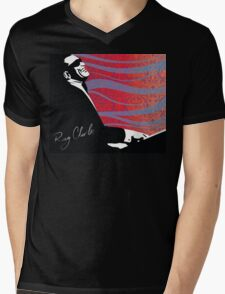 retro RAY CHARLES digital illustration  Mens V-Neck T-Shirt