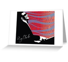 retro RAY CHARLES digital illustration  Greeting Card
