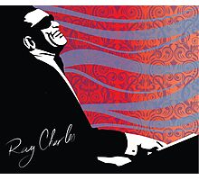 retro RAY CHARLES digital illustration  Photographic Print