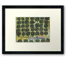 THE ORANGE WAGON Framed Print