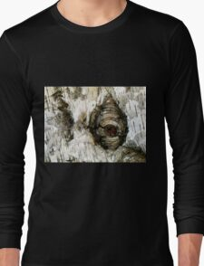 Painted Birch - Abstract from Nature Long Sleeve T-Shirt