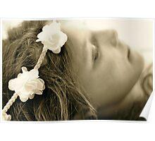 Sleepy Flower Girl Poster