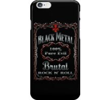 BLACK METAL - 100% PURE EVIL iPhone Case/Skin