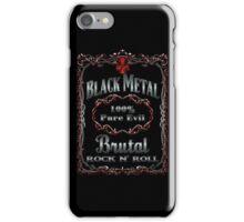BLACK METAL - 100% PURE EVIL iPhone Case/Skin