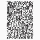 Robot Crowd by Roseanne Jones