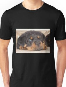 Adorable Rottweiler Puppy With Blue Eyes Unisex T-Shirt