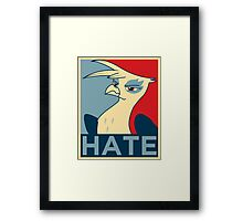 HATE Framed Print