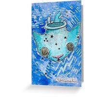 """""""Oro?"""" Aquarius Greeting Card"""
